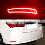 1 Pair Car LED Warning Trunk Rear Bumper Lamp Turn Signal Reflector Brake Light For Toyota Corolla 2013+ 2014 2015