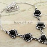 Black Onyx Gemstone & .925 Sterling Silver Necklace Jewelry Wholesale Jewellery