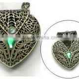 vintage heart shape locket pendant necklace,various locket designs and good price<DXCA7583>