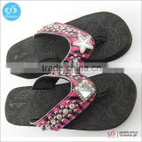Supply machining rubber strap flip flop fashion lady flip flops