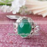 New Arrival Fashion Design 925 Sterling Silver Large Chalcedony Ring