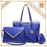 3pcs In Women fashion handle silicon lady handbag                                                                         Quality Choice