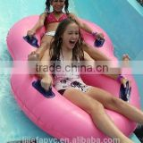 Professional factory inflatable floating double water tube ,aqua park tube,water sports tube