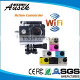 sj4000 wifi outdoor motorcycle dvr sport camera with European CE ROHS certifications