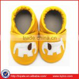Newborn 0-6 Months Cute Soft Leather Shoes Baby Toddler Boots Yellow