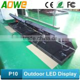 P10 programming front open led open closed sign/Outdoor full color front open led display