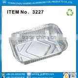 foil containers 3227 disposable eco-friendly aluminium foil food packing container for restaurant take away lunch food container