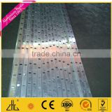 Traffic Perforated Galvanized Steel Sign Poles / square telescopic pole