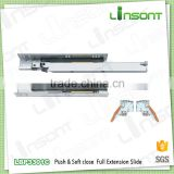 OEM factory supply both soft close and push open system extension runner furniture drawer slides