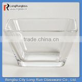 LongRun Clear Tempo Square Glass Bowls Old Fashioned Glassware Dinner Set
