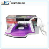Temperature adjustable teflon/ ceramic bottom plate sterilize electric steam iron with lint brush 3 in 1 design