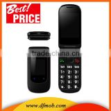 Big Font SOS 2.4INCH MTK6260 GSM GPRS High Volume Quad Band Dual SIM Card Flip Models of Old Phones T09
