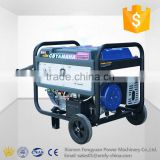Light weight 6.5kw 8kva 3 phase output manual start generator using gasoline AVR control single cylinder