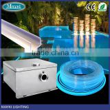 Fiber optic led star for pool perimeter light with multi-string side light cable and fibre optical emitter