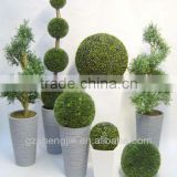 artificial cheap plastic green grass boxwood topiary ball in wholesale price