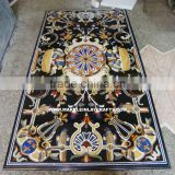 Black Rectangular Marble Inlay Table Top