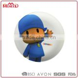 Baby safety blue coate boy in hat design children melamine dinner plates with cartoon