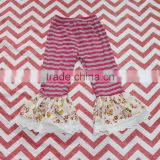 Wholesale children clothing baby leggings girl ruffled pants kids boutique short with lace