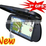 7inch car dvr gps navigation with rear view mirror patent design
