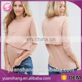 wholesale maternity nursing top breastfeeding with double layer