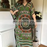 Beachwear Kaftan free size boho kimono loose hippy style kaftan bat wings sleeves dashiki dress