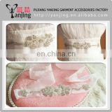 Professional Factory Crystal Rhinestone Handmade Wedding Sash Belt Beads Bridal Accessories