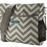 Grey Chevron messenger bag with long shoulder from China