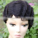 Short Mommy wig 100% Remy Human Hair curly wig