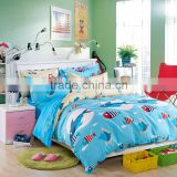 Bright-coloured cartoon printing100%cotton sea world print twill fabric bedding set /bed sheet/duvet cover/pillow