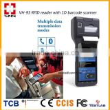 4G Android Fingerprint barcode scanner with UHF RFID reader