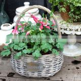 Eco-friendly fruit wood wicker flower basket