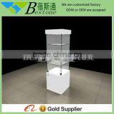 Used cabinet shop equipment, antique wooden glass display cabinet, Upright watch display cabinet