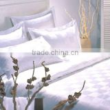 hotel embroidered cotton stripe bed sheet sets