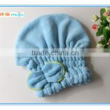 Freeshipping factory directly supply lower lace shower cap,super-absorbent microfiber dry hair hat, Microfibe