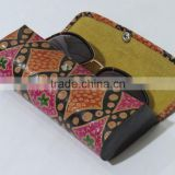 Leather Eyeglass Case painted goggles bag