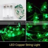 IP65 Waterproof 2M 20 LEDs String Strip Battery Operated Tree Shaped Mini LED Copper Wire String Fairy Lights RGB Lamp