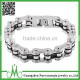 Stainless Steel Mens Bracelet Bike Chain Bracelet Motorcycle Heavy Bangle Man Jewelry Black Silver