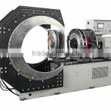 Automatic Saddle fitting fabrication machine for butt fusion welding reducing tee PE pipe fittings
