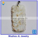 2016 New Products Carving Dragon Mother of Pearl Pendant