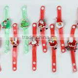 Children Christmas Day best toy gifts,Christmas man 3D PVC led flashing bracelet for Christmas day