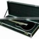 Aluminum electric guitar case musical instrument box with die-cutted foam