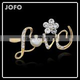 JOFO HOT Popular Romantic Love Letters Rhinestone Brooches For Lover
