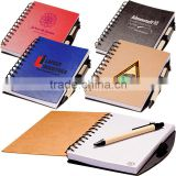 Custom design creative cover stone paper notebook and pen gift set