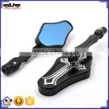 BJ-RM-072 Aftermarket Skeleton CNC Aluminum Motorbike Motorcycle Side Rear Mirror for Street Bike