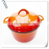 HOT Trionfo pre-seasoned cast iron cookware enameled casserole hot pot