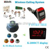 Restaurant Ordering Calling System Top Popular 433MHZ Frequency Table Call Buzzer CE Passed