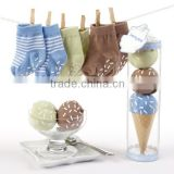 Cute design 100% crocheted funny baby socks gift sets wholesale