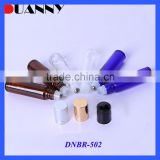 WHOLESALE 5ML 10ML AMBER GLASS ROLL ON BOTTLE WITH STAINLESS STEEL ROLLER                                                                         Quality Choice