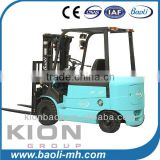 1.5t 2t 2.5t 3ton four wheel AC electric battery forklift with 3 stage mast
