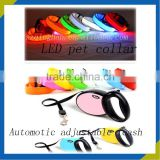 cheap wholesale custom LED retractable strip-type plastic pet dog collar